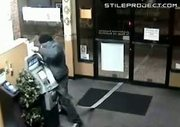 robber steals an ATM machine with his pickup truck