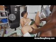 Giant Black Shaft Being Slipped In Asian Milcah Halili