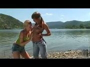 Cute Girlfriends Get Bi Curious In A Outdoor Sex Action!