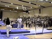 Gymnast High Bar Double Flip Fail