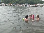 Lovely girls next door get dirty in the water