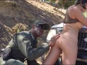 Latina babe gets her pussy stuffed by border patrol agent