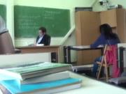 Teen fucked at the back of the classroom