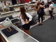 Huge booty amateur babe pawns her pussy at the pawnshop