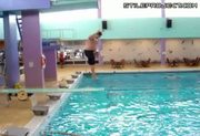 Epic Fail Pool Diving Board Slip