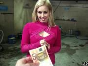 Pretty blonde amateur Czech slut gets fucked in car park