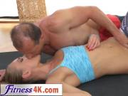 Perfect babe Ivana Sugar in a foreplay with her fitness coach