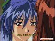 Japanese anime coeds group gangbang