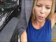 Amateur milf with big boobs gets banged by tow truck driver