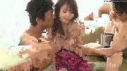 Young Japanese babe nailed hard in a threesome