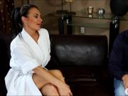Gorgeous busty masseuse Alektra Blue fucked by her client