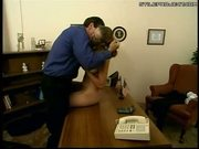 Teen secretary fucked and facialed
