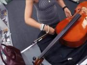 Amateur babe pawns her Cello and banged by nasty pawn man