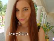 Jenny glam takes big pussy creampie