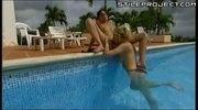 HOT lesbian whores enjoy sex near the pool