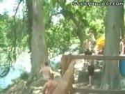 Girl Rope Swing Fail