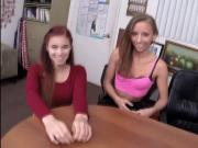 Big asses of Shortie Breeze and Stacy Sweet at office