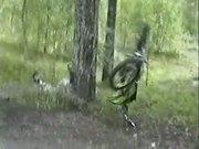 Dirt Biker Smacks Tree