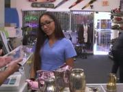 Real nurse goes bottomless in pawnshop