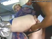 Pussy Fisting Fat Mature Skank Whore In Garage