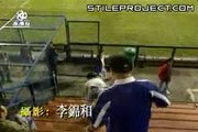 guy kicked down stairs