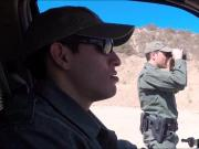 Amateur fucked by a border patrol agent
