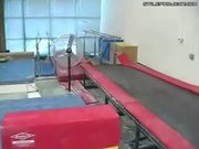 Cory Heart Trampoline Backflip Landing Fail