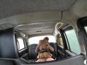 Huge boobs amateur blonde passenger banged by driver