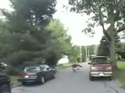 Dirt Bike Wheelie Fail Wipeout In Street