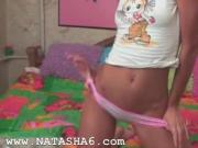 Hot live show of beautiful russian chick