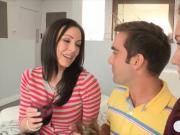Busty mature Kendra Lust nasty threesome session with teens