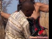 African ebony babe tied outdoors bdsm big tits
