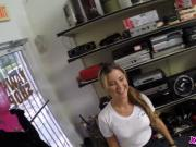 Hot Waitress Gets Fucked