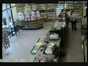 SUV crashes into store