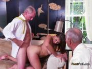 Luscious Teen Ivy Rose Bends Over For Old Man
