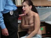 Horny hot Bobbi Dylan sucking huge hard pole for pleasure