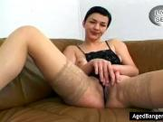 Mature getting fucked by several cocks.