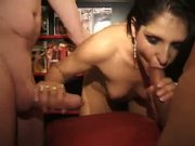 Shameless UK MILFs Cum Over Gangbang