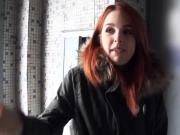 Redhead Czech girl twat fucked by stranger for money