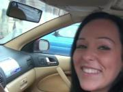 European girlnextdoor bj in car