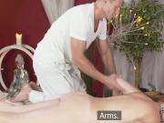 Redhead milf got massage and orgasm