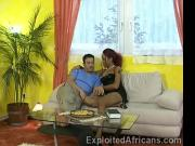 Horny German stud eats a sweet black African pussy
