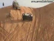 Crazy dune climbing