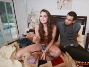 Cock crazed babe Allie Haze loves some meat