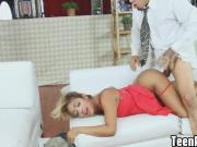 Bruno shoved his cock right on her throat, slapping and spittin Ally