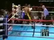 18 Second Boxing Knockout, Guy Falls Funny Into The Ropes