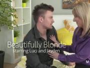 Dude fucks beautiful busty blonde mature lady