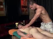 Amateur gets turned after massage