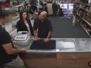 Customers wife fucked by perv pawn man at the pawnshop