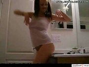 Smoking Hot Teen Girl Dances For Her Friend